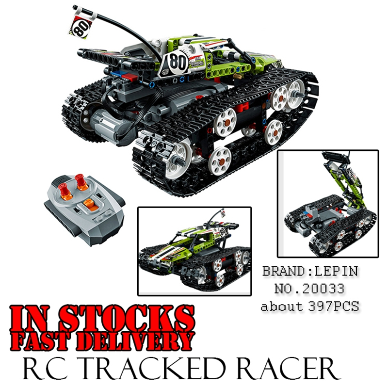 Lepin Technic Series The RC Track Remote-control Race Car styling Set Building Blocks Bricks Educational Toys for children 42065 lepin 20054 4237pcs the moc technic series the remote control t1 classic volkswagen camper set 10220 building blocks bricks toys