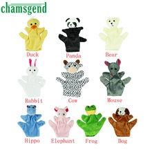 Chamsgend Hot Baby Child Zoo Farm Animal Hand Glove Puppet Finger Sack Plush Toy Levert Dropship Aug31(China)