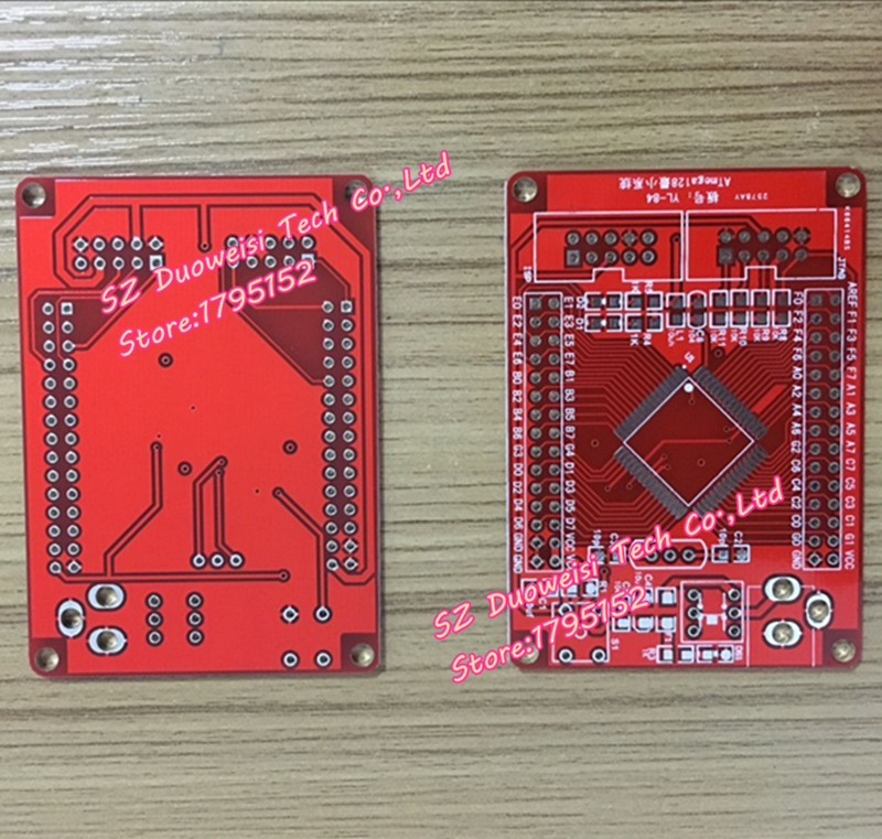 AVR development board / minimum system PCB blank board (ATMEGA128 PCB empty board) red empty board stm32 development board core board minimum system board arm avr 51 stm32f103zet6
