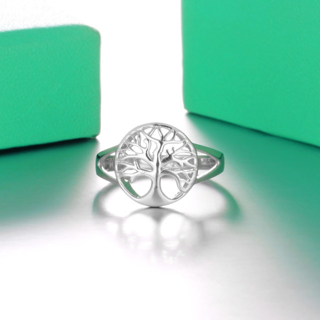 Tree of Life Classic Accessories 925 Sterling Silver Rings For Women New Mothers Day Gifts (JewelOra RI102308)