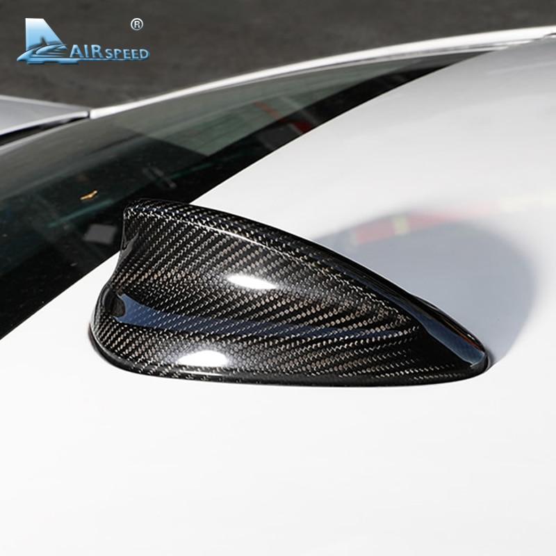 Vitesse Carbone fibre Aileron de Requin Antenne Couverture Garniture pour BMW E46 E60 E90 E92 M3 F20 F30 F10 F34 G30 m2 M4 M5 F15 F16 Accessoires