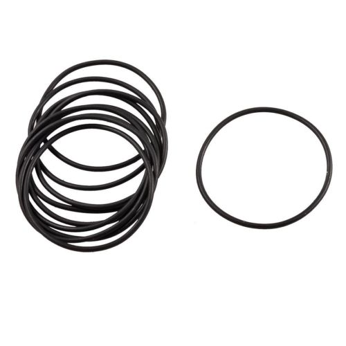 50 Pcs Black Rubber Oil Filter Sealing O Ring Gasket 38mm x 35mm x 1.5mm image