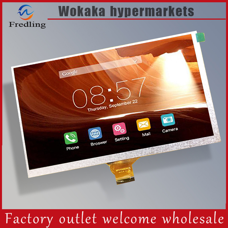 New LCD Display mf0701683004a For 7 TABLET LCD Matrix 1024x600 Screen Panel Frame Module Free Shipping new lcd display matrix for 7 archos 70b copper tablet inner lcd display 1024x600 screen panel frame free shipping