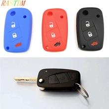1pc    Silicone car key case cover for FIAT /Panda /Stilo /Punto /Doblo /Grande /Bravo 500 Ducato /Minibus стоимость