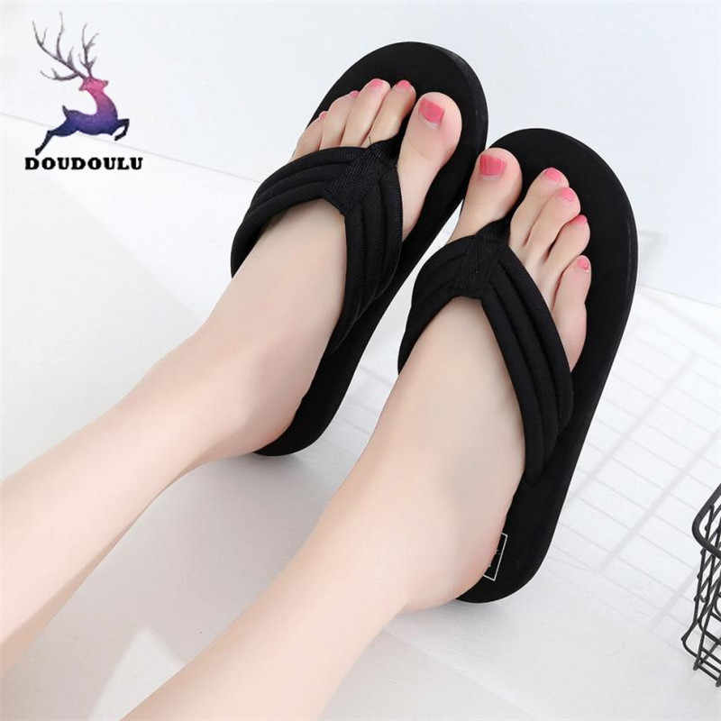 Summer Women Flip flops Slippers Beach Sandals 2018 New Summer Home Shoes  Woman Casual Soft Sole 51224d1f0ec8
