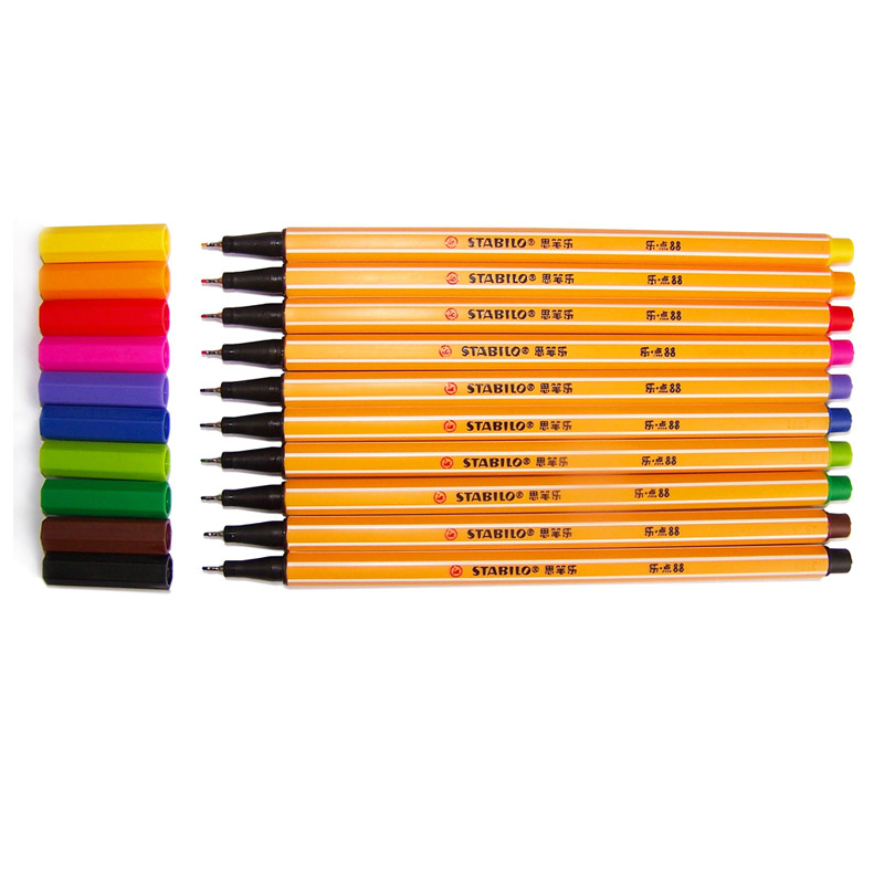 STABILO 88 Colored Pens - Set of 10 pieces 1
