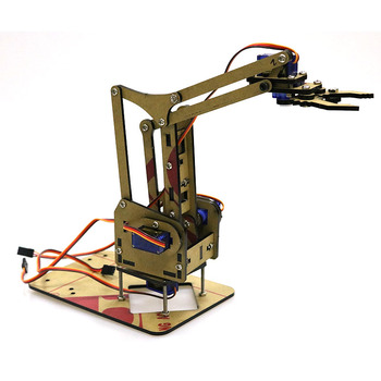 Assembled Acrylic Robotic Arm with SG90/MG90S Servo for Arduino Development Kit