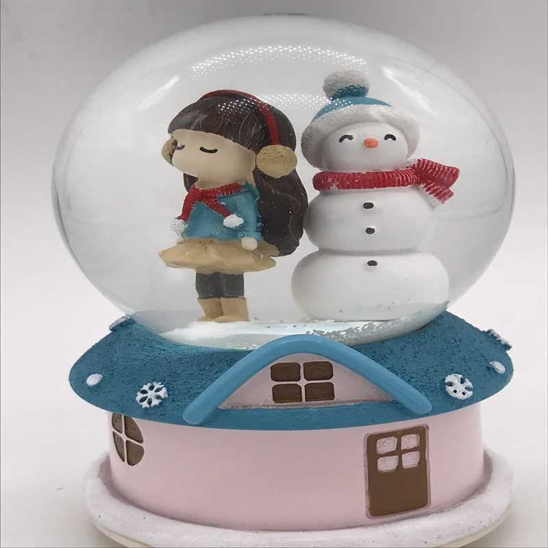 Snow Globe Box Musical Light floating Sky City Christmas gift birthday present