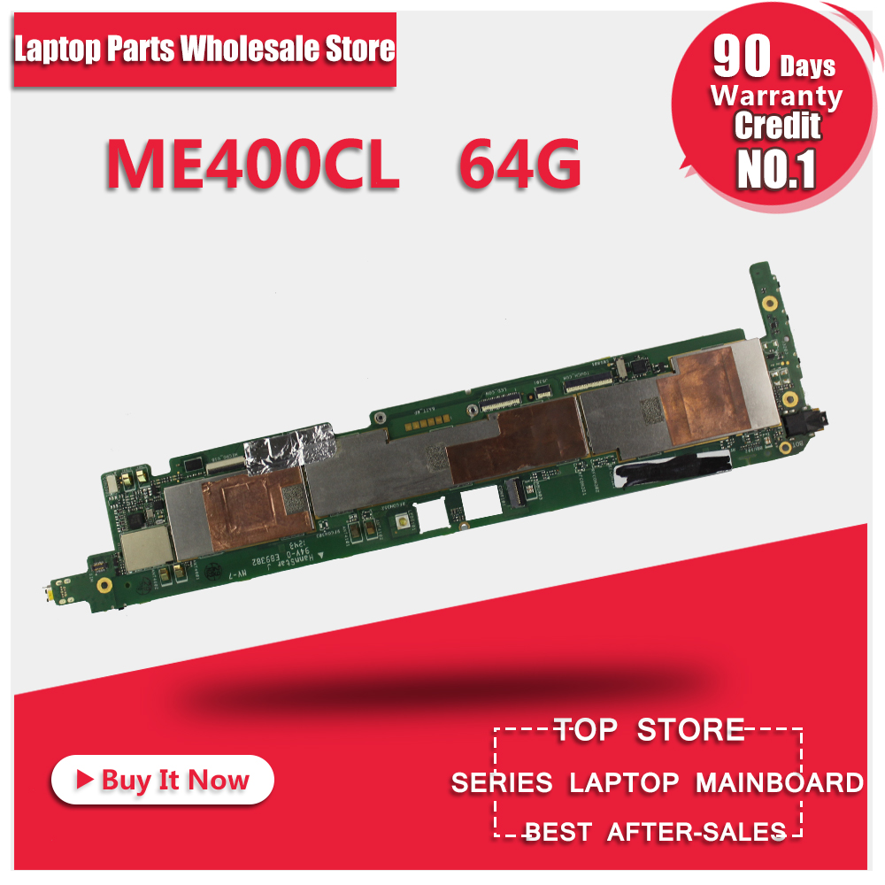 ME400CL tablet motherboard For Asus VivoTab Smart ME400CL ME400C 64GB Mainboard REV 1.3 G With 64G Memory for asus motherboard f552e f552ep x552e a552e x550e x552ep x550ep x552ep rev2 0 mainboard with processor 4g memory fully test