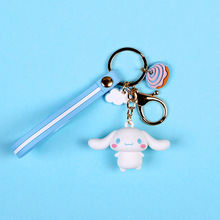 Korea Cartoon Epoxy Pudding Dog Melody Big Ear Cool Penguin Lomi Keychain Bag Pendant Gift Girl Keyring Cute