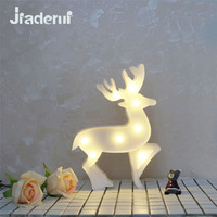 Jiaderui Kreative LED Angel Deer Kunststoff Nacht Lampen 3D Festzelt Tischlampen Brief Lichter Kinderzimmer Decor Lampen Rosa/weiß/Blau