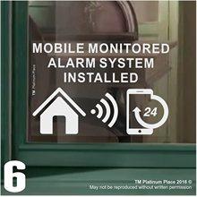 Safurance 6 xMobile Контролируемая система сигнализации установлен Предупреждение ющий знак внутренняя наклейка 130x87 мм безопасность дома