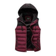 2017 Men's winter vest male winter jacket men's clothing winter waistcoat detachable cap outerwear autumn and winter coat