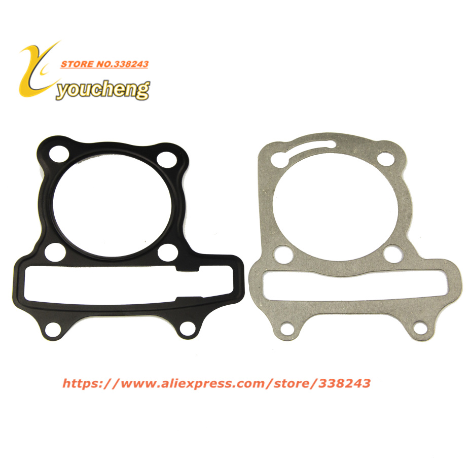 Cylinder Gasket Set Cushion Pad <font><b>GY6</b></font> <font><b>50cc</b></font> Scooter <font><b>Engine</b></font> Spare <font><b>Parts</b></font> 139QMB Moped QGD-GY650(3 sets) Drop Shipping image