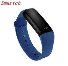 Smartch 0.86 дюймов M2S Smart Браслет Bluetooth 4.0 Смарт пульсометр крови Давление измеритель пульса фитнес-трекер pk Я