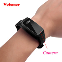 Volemer K68 Smart Bracelet Camera HD 1080P Mini Camera Wristband Sports Kamera Micro Cam Pedometer Action Camera Mini Camcorder