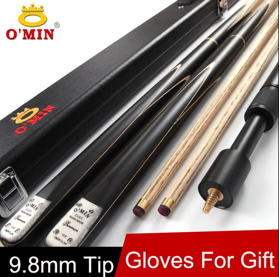 OMin 3 /4 Snooker Cues 9.8mm Tip 3 4 Snooker Cues Case Set Black 8 Professional High Quality Billiard Stick Kit China 2019OMin 3 /4 Snooker Cues 9.8mm Tip 3 4 Snooker Cues Case Set Black 8 Professional High Quality Billiard Stick Kit China 2019