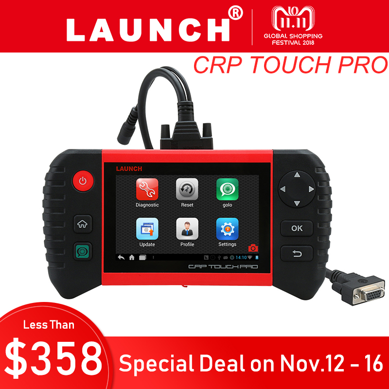 Launch Creader CRP Touch Pro OBD2 All System Auto Diagnostic Tool Car Code Reader Scanner Oil Reset SAS DPF BMS EPB Reset mymei зелёный цвет