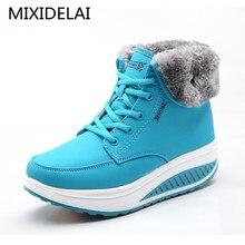 Зимняя женская бархатная обувь для танцев; зимние ботинки на платформе; женская теплая обувь с хлопчатобумажными стельками; ботильоны на плоской подошве