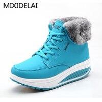 Зимняя женская бархатная обувь для танцев; зимние ботинки на платформе; женская теплая обувь с хлопковой подкладкой; ботильоны на плоской п...