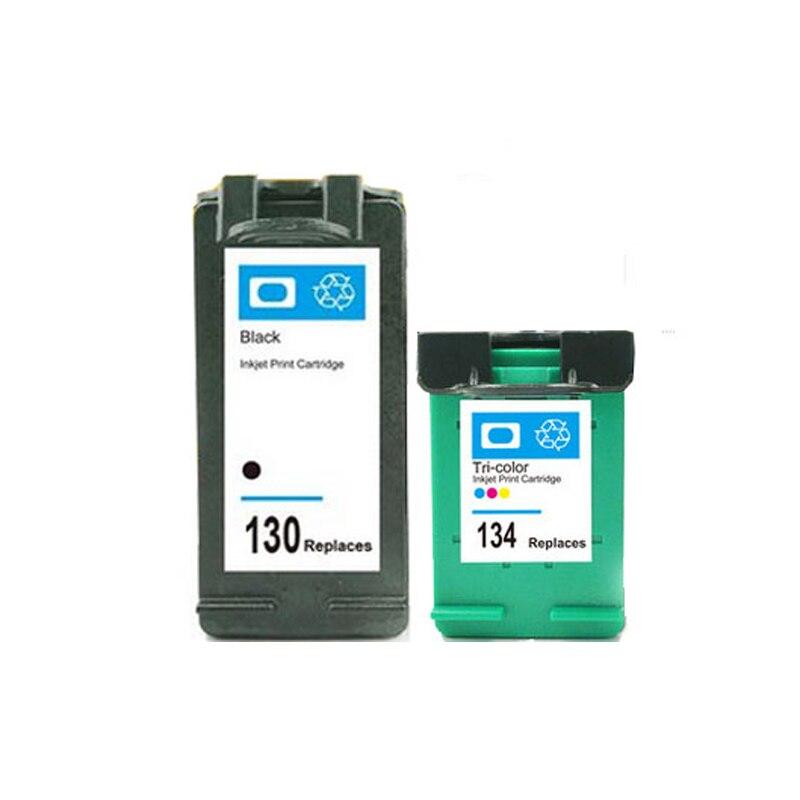 Cartridge For HP 130 134 Ink Cartridge For HP Deskjet 6543 5743 6623 5743 6843 6523
