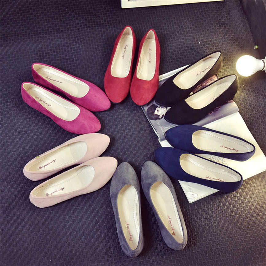 2019 Latest Women Ladies Slip On Flat Shoes Sandals Casual Ballerina Shoes Office Work Shoes  20**