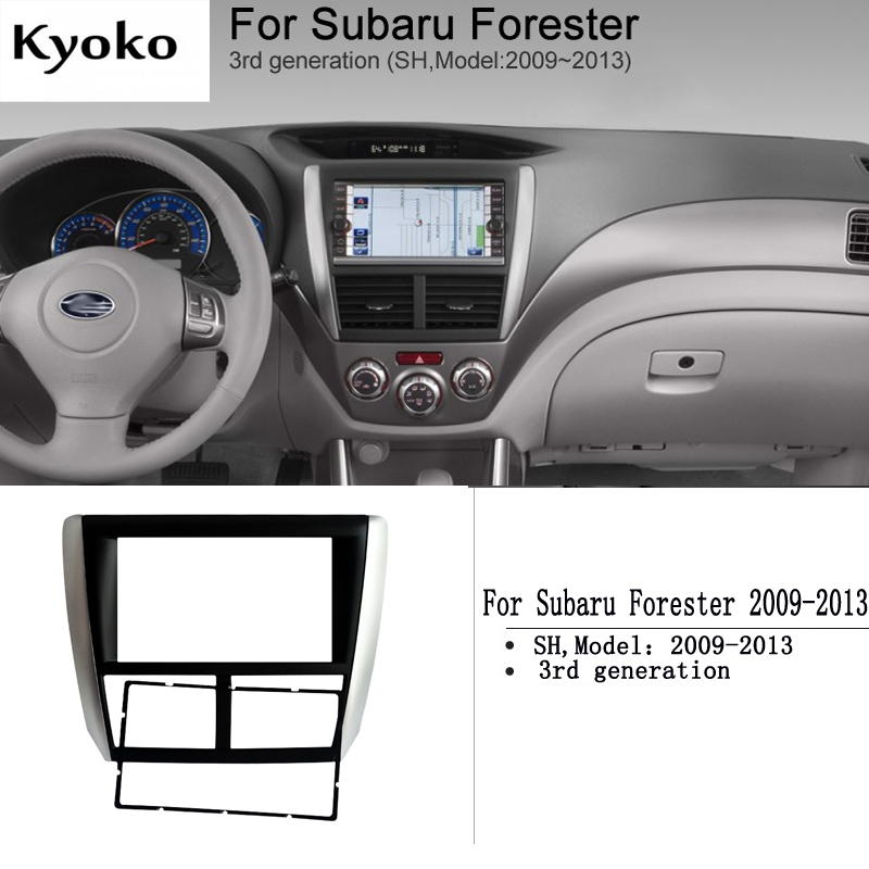 For Subaru Forester (2009-2013) Audio DVD Refit Frame Panel Stand Car Audio 2DIN Refitted Face Frame
