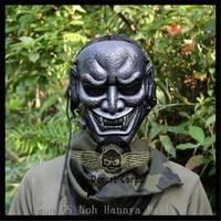 Hot Sale Resin Japanese Buddhist Evil Oni Noh Hannya Mask Masquerade Halloween Cosplay Dancing Party CS Game Masks Free Shipping