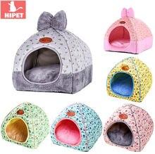 Складной домик для кошек hipet теплая спальная кровать домашних