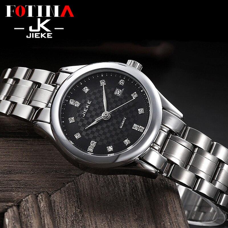 FOTINA Top JK Brand Watch Women Fashion Casual Wrist Watch Full Steel Watch Date Business Lovers