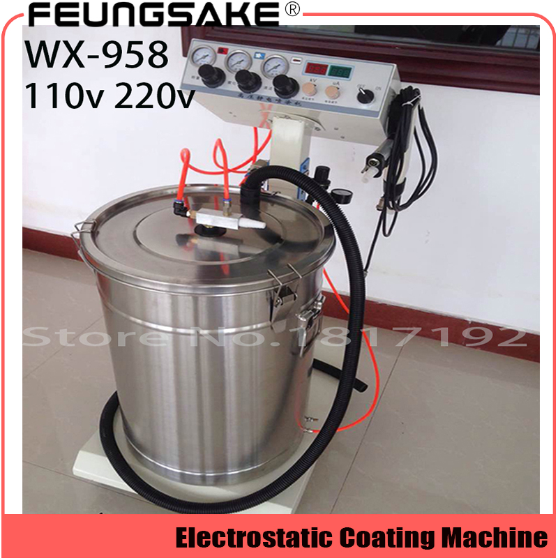 Electrostatic Powder Coating machine WX-958 Electrostatic Spray Powder Coating Machine Spraying Gun Paint AC 110v 220v