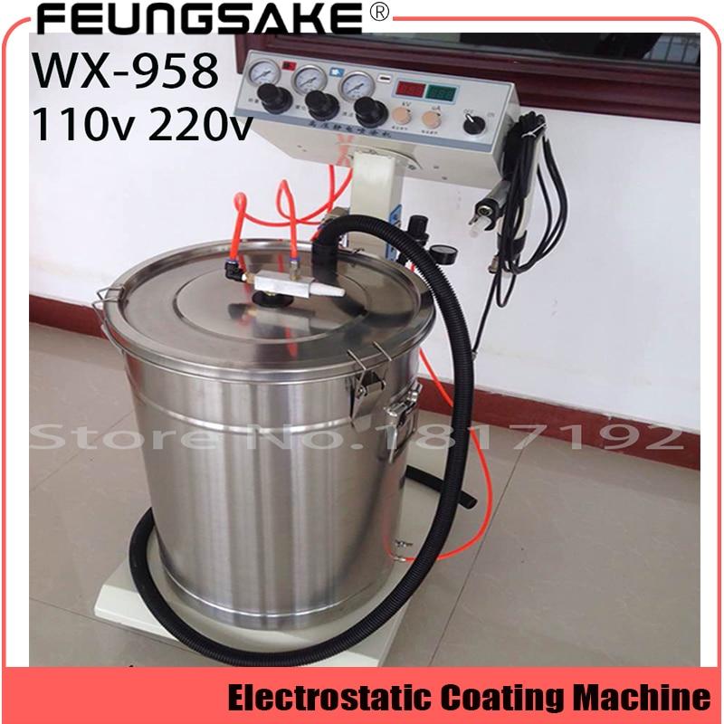 Electrostatic Powder Coating Machine WX-958 Electrostatic Spray Powder Coating Machine Spraying Gun Paint AC 110v 220v
