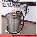 WX-958 eletrostática máquina de Revestimento Em Pó de Pulverização Eletrostática Máquina de Revestimento Em Pó Pistola de Pintura de Pulverização AC 110 v 220 v