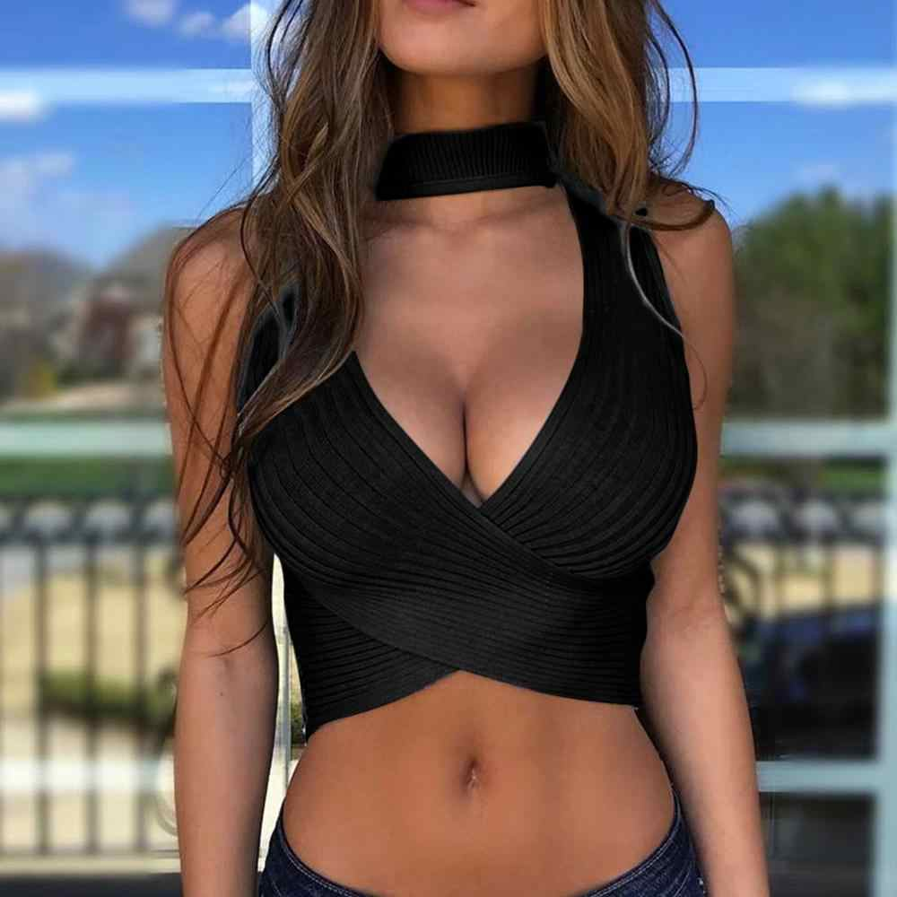 Women's Fashion Summer Knitted Vest Jacket Top Blouse women clothes 2019 topic summer sexy  tank top women crop top crop