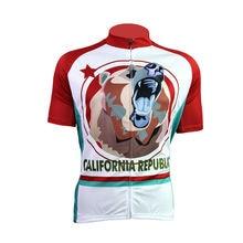 Extranjero SportsWear CALIFORNIA Patrón hombres de Manga Corta de La Bici Jersey Con Cremallera Completa Pro Camisetas de Ciclismo Ciclismo ropa Talla XS A 5XL