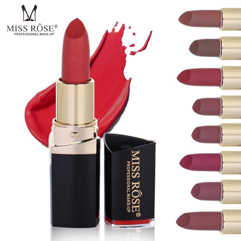 Miss Rose Hot Selling Easy To Makeup lip gloss lipstick Square nude Color Long Lasting Women Lipstick Matte lipstick