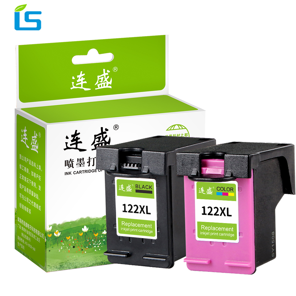 2Pcs/set 122xl 122 XL Remanufactured ink cartridges Compatible for HP 3052A 3054 4500 4632 3000 1000 1050 2000 2510 Printer|ink cartridge|ink cartridge for hp|cartridge for hp - title=