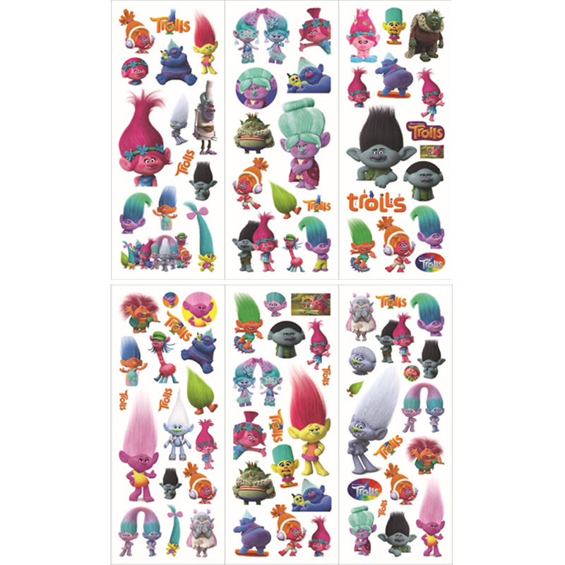 6 sheets/set new cartoon stickers for kids home wall decor on laptop cute Trolls mini 3D sticker toy notebook diary scrapbooking6 sheets/set new cartoon stickers for kids home wall decor on laptop cute Trolls mini 3D sticker toy notebook diary scrapbooking