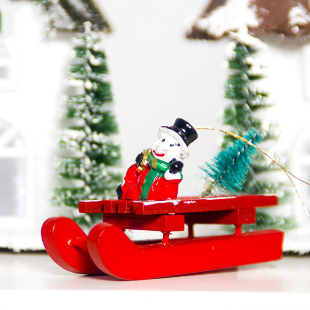 Diamond Creative Christmas Wooden Music Box Gift Christmas Sleigh Desktop Decoration Xmas Christmas Supplies Home Party Ornament #ss For Fast Shipping
