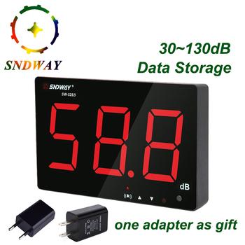 SNDWAY cyfrowy miernik poziomu dźwięku 30 ~ 130dB duży wyświetlacz restauracja bar kryty biuro domu ściany wiszące typu miernik decybeli hałasu tanie i dobre opinie SW-525B 30 ~ 130dB (dB) +1 5 dB 31 5Hz ~ 8 5kHz 1 2 inch condenser microphone 3-inch digital tube display DC 5v 1A micro USB