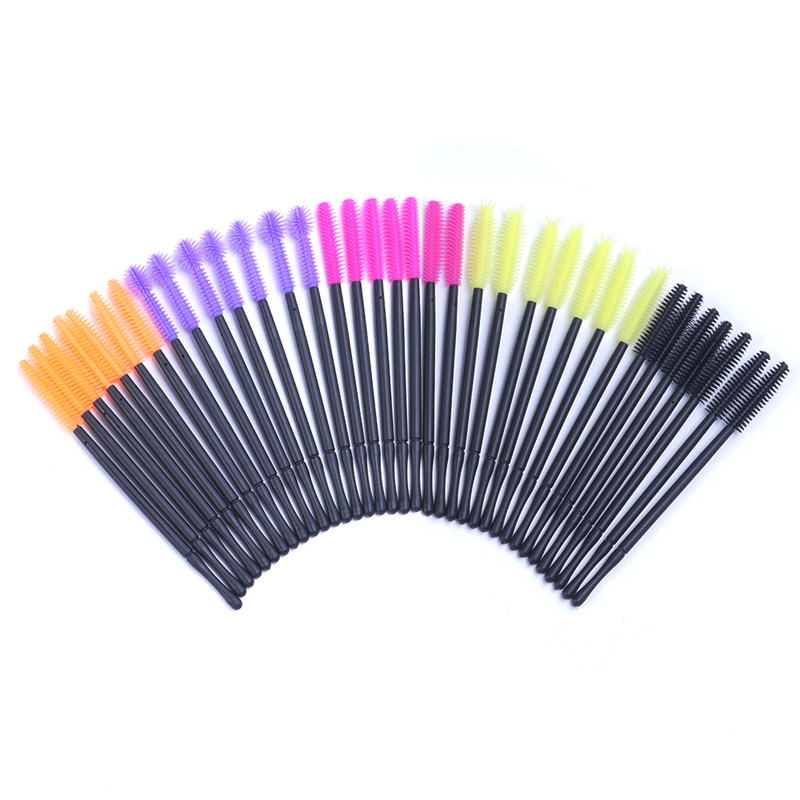 50Pcs Makeup Cosmetic Disposable Eyelash Brush Mascara Wand Applicator Kit Cosmetic Tools Makeup Brushes