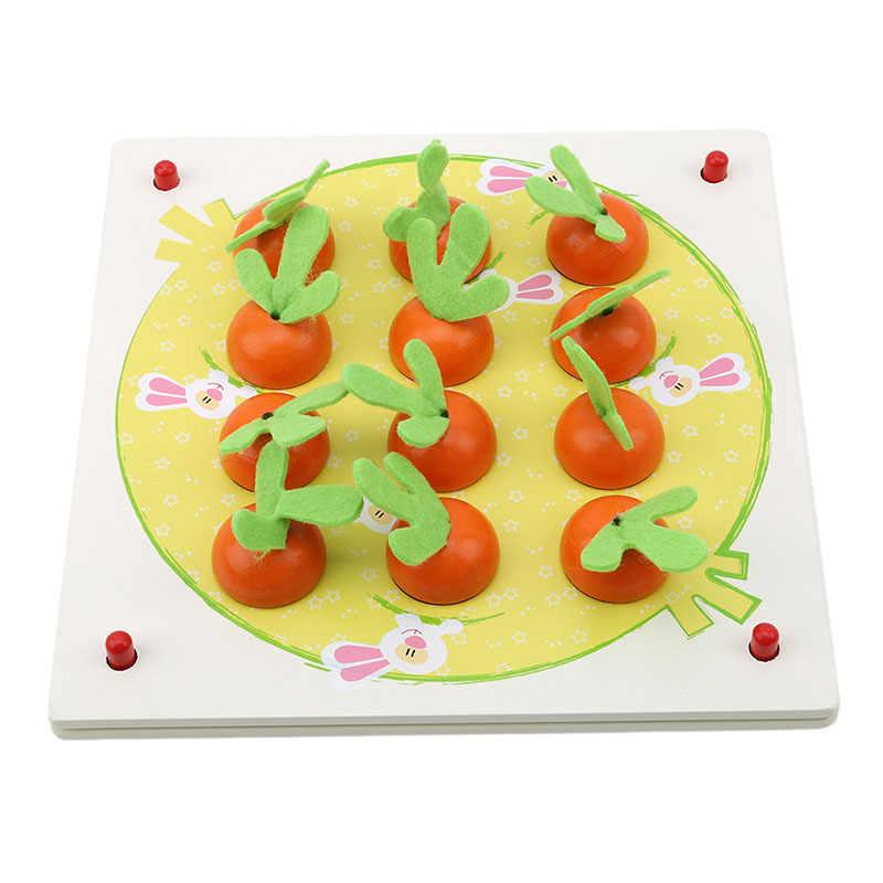 شعبية مفيدة الإبداعية خشبية لغز ثلاثية الأبعاد Tangram بانوراما المجلس المبكر الجزرة الذاكرة الشطرنج لعبة ثلاثية الأبعاد لغز الخشب لعب للأطفال