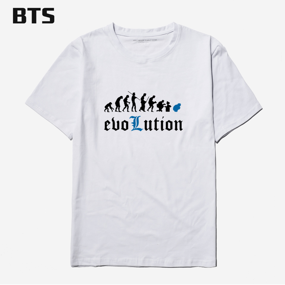 BTS Death Note T-shirt Men Famous Brand Men T Shirt Casual O-neck Short Sleeve Evolution Printed Tees And Tops Couple Clothes