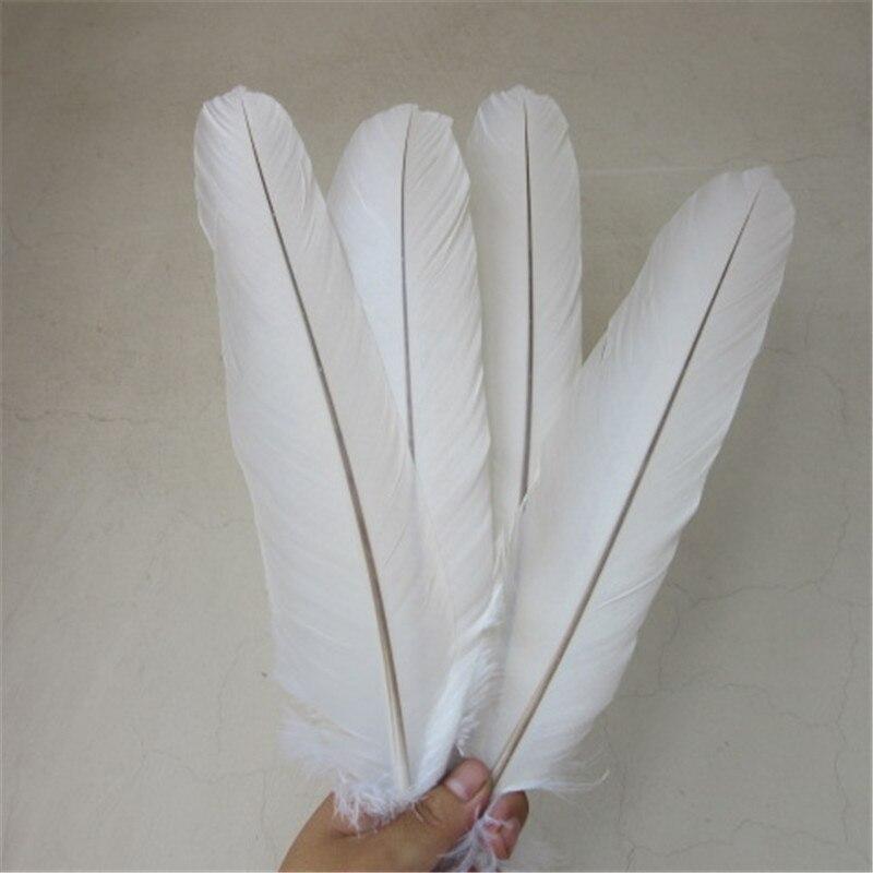 wholesale 60 pcs 1 set rare white eagle Tail feathers length 40 45 cm 16 18