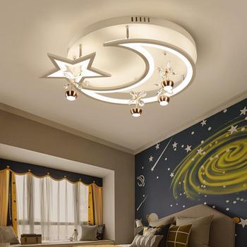Led plafonnier créatif étoile demi lune lampe de salon chambre d'enfant plafonnier petit salon lumières décoratives