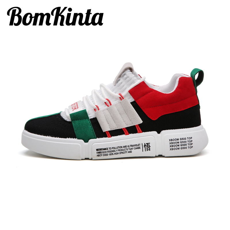 BomKinta 2019 New Sneakers Men Classic Brand Sports Shoes Patchwork Lace Up Youth Male Running Shoes Breathable Mans Footwear