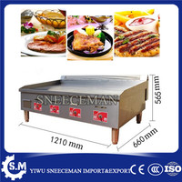 length 1.2m gas griddle grill flat plate