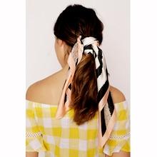 Silk feel like square headscarf, animal print multifunctiona