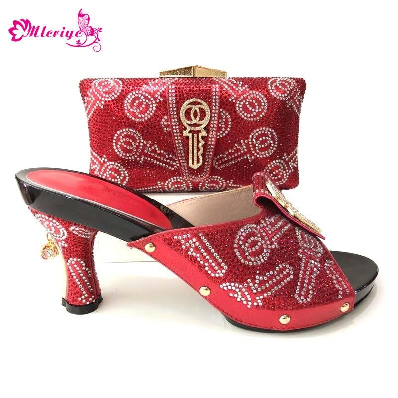 e019774b Fiesta plata Con Italiano Boda Negro púrpura rojo De Imitación Juego  Zapatos Bolso Moda Rojo A ...