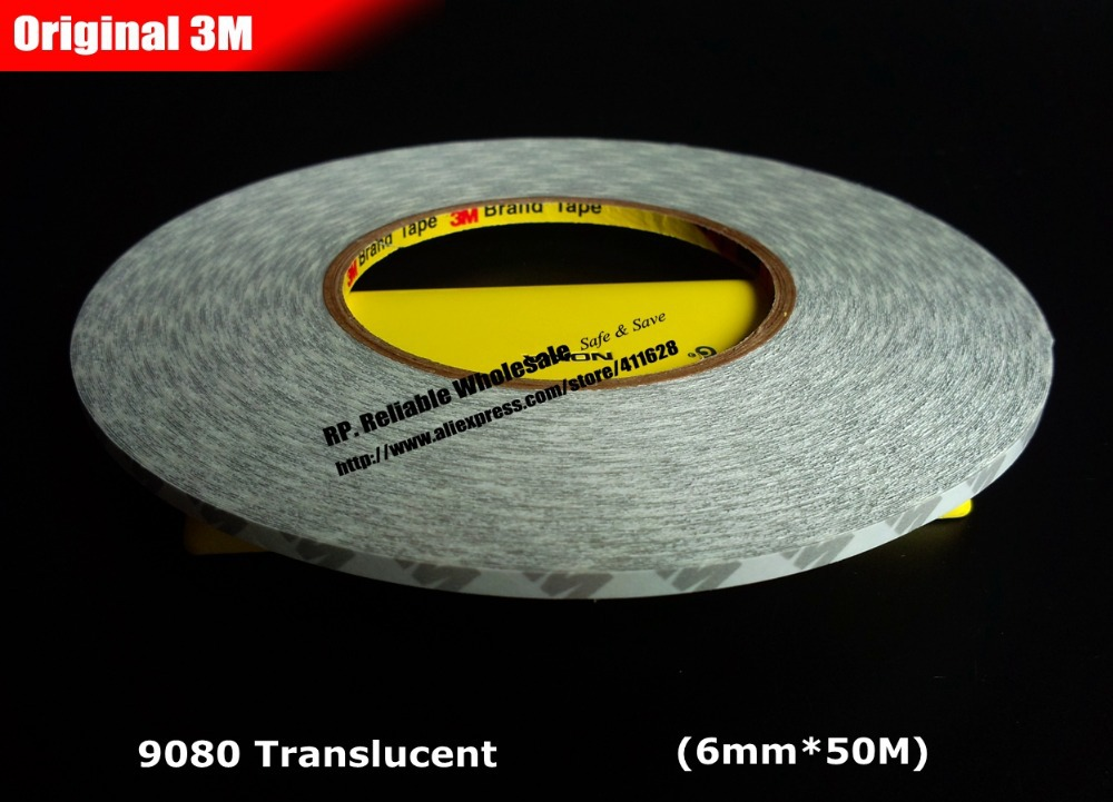 (6mm*50 meters) 3M 9080 Double Sided Adhesive Tape for PhoneTablet Screen Dispaly, LED Strip Adhesive, Common Using